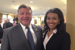 Janessa Lopez with House Transportation and Infrastructure Committee Chairman Bill Shuster (PA)