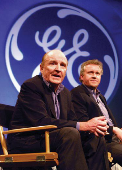 General Electric Chairman and CEO Jack Welch at the 200 news conference announcing the appointment of his successor, Jeffery Inmelt.