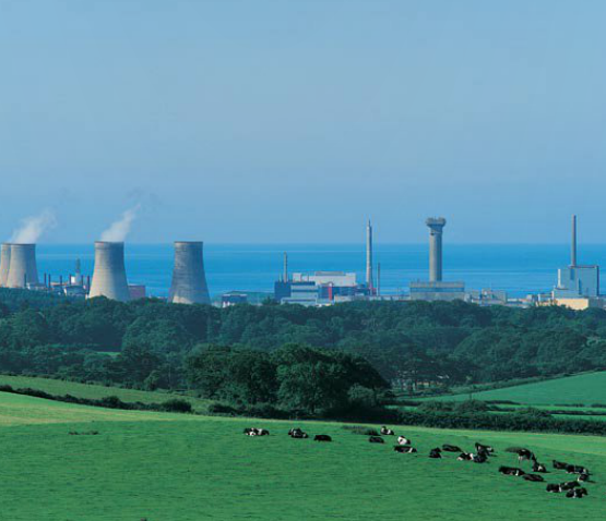 Nuclear power station in Cumbria, England.