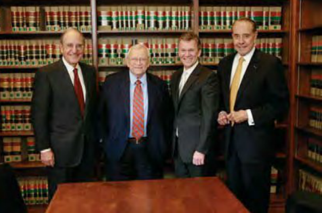 Senator Baker, along with the other founders of the Bipartisan Policy Center: George Mitchell, Tom Daschle, and Bob Dole.