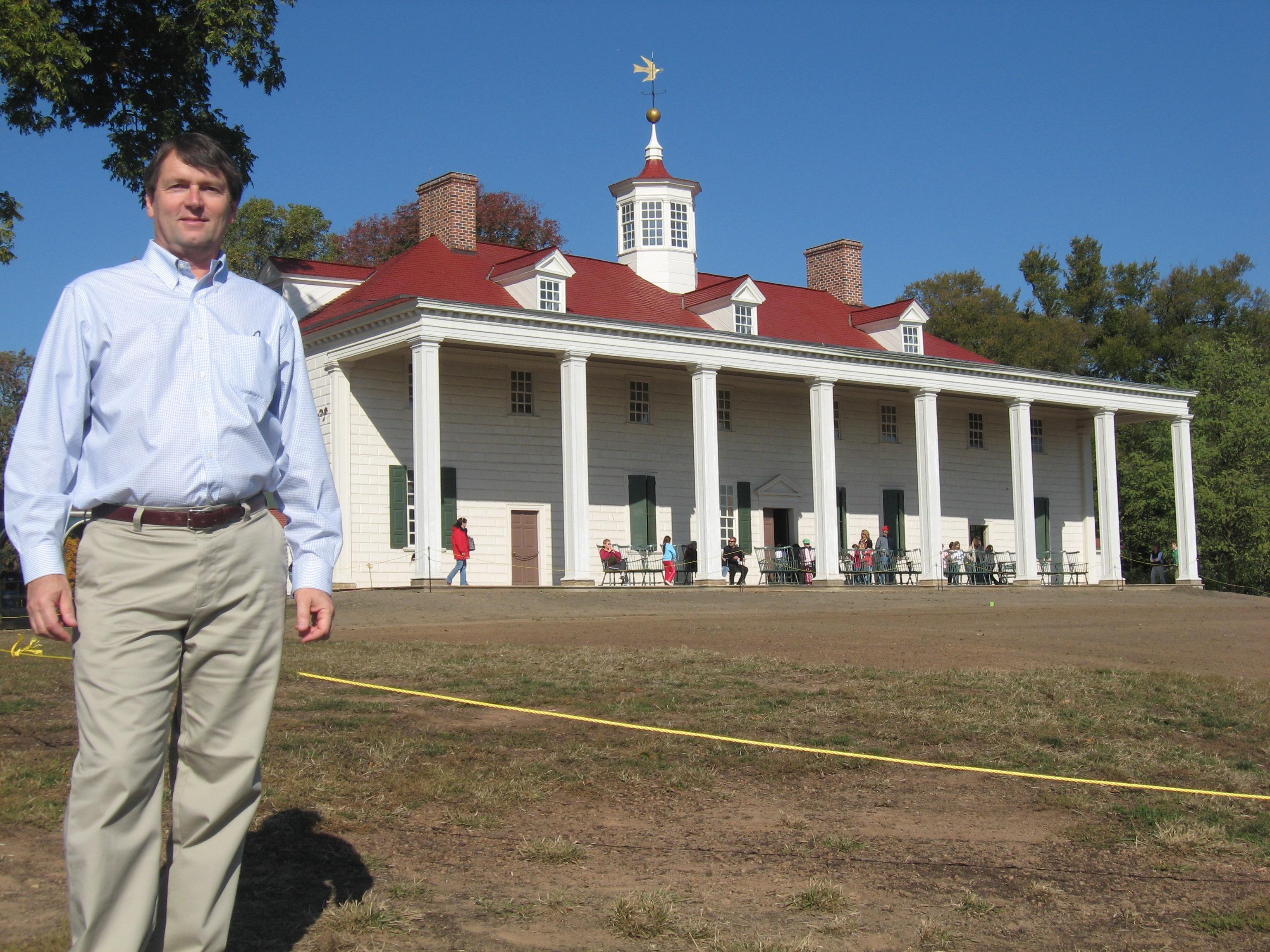 Ed Larson at Mount Vernon
