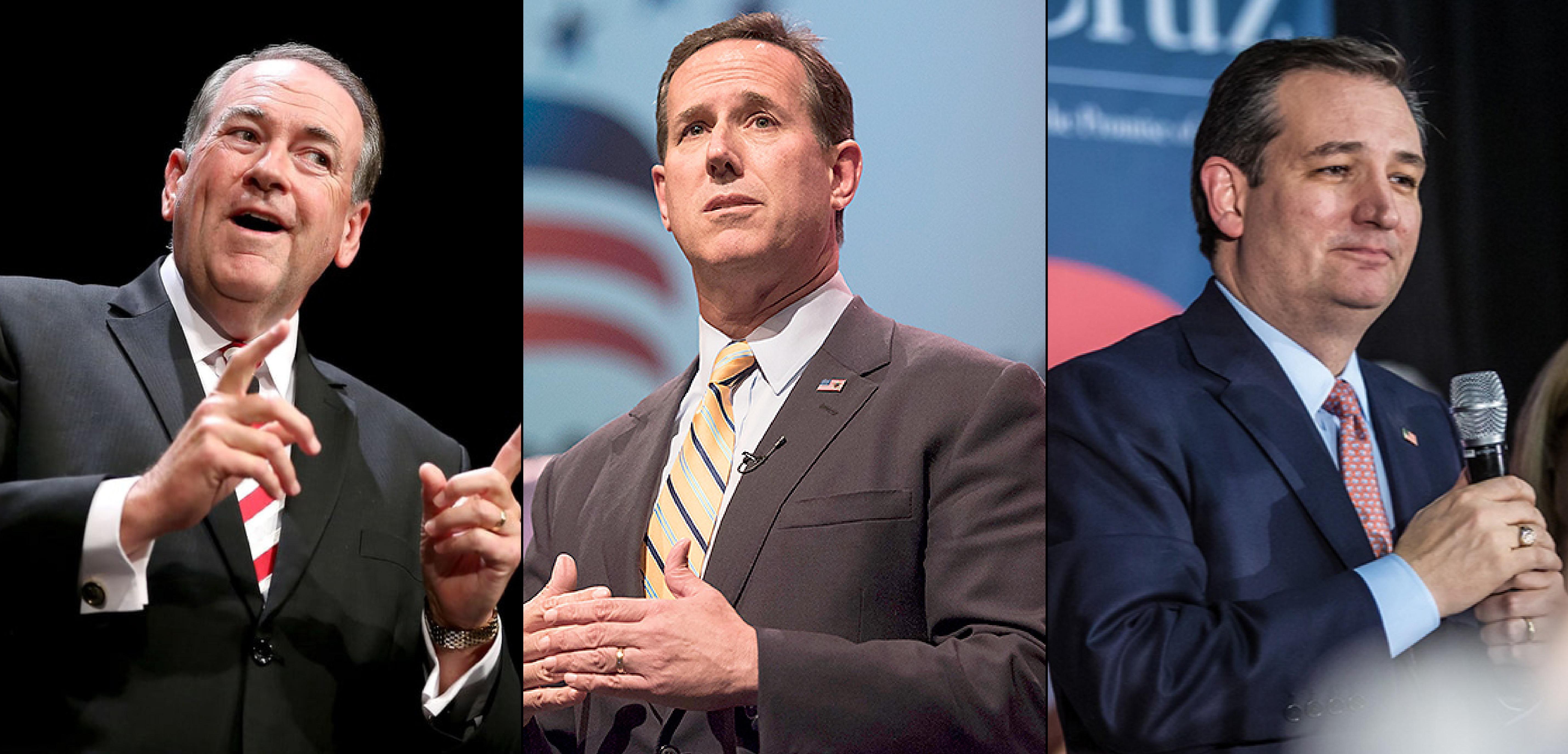 Huckabee, Santorum & Cruz
