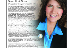 Ripon Profile of Kristi Noem