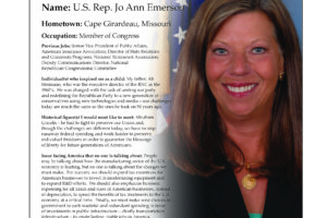 Ripon Profile of Jo Ann Emerson
