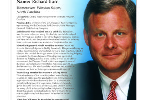 Ripon Profile of Richard Burr