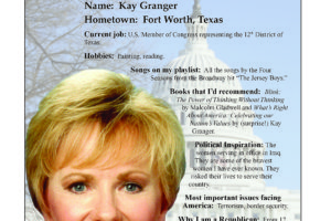 Ripon Profile of Kay Granger