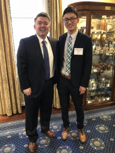 Alex Yom with Senator Cory Gardner